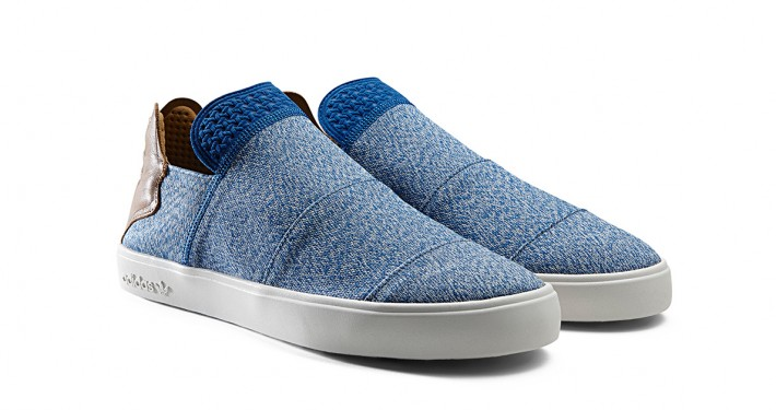 Pharrell x Adidas Pink Beach Slip On Blue