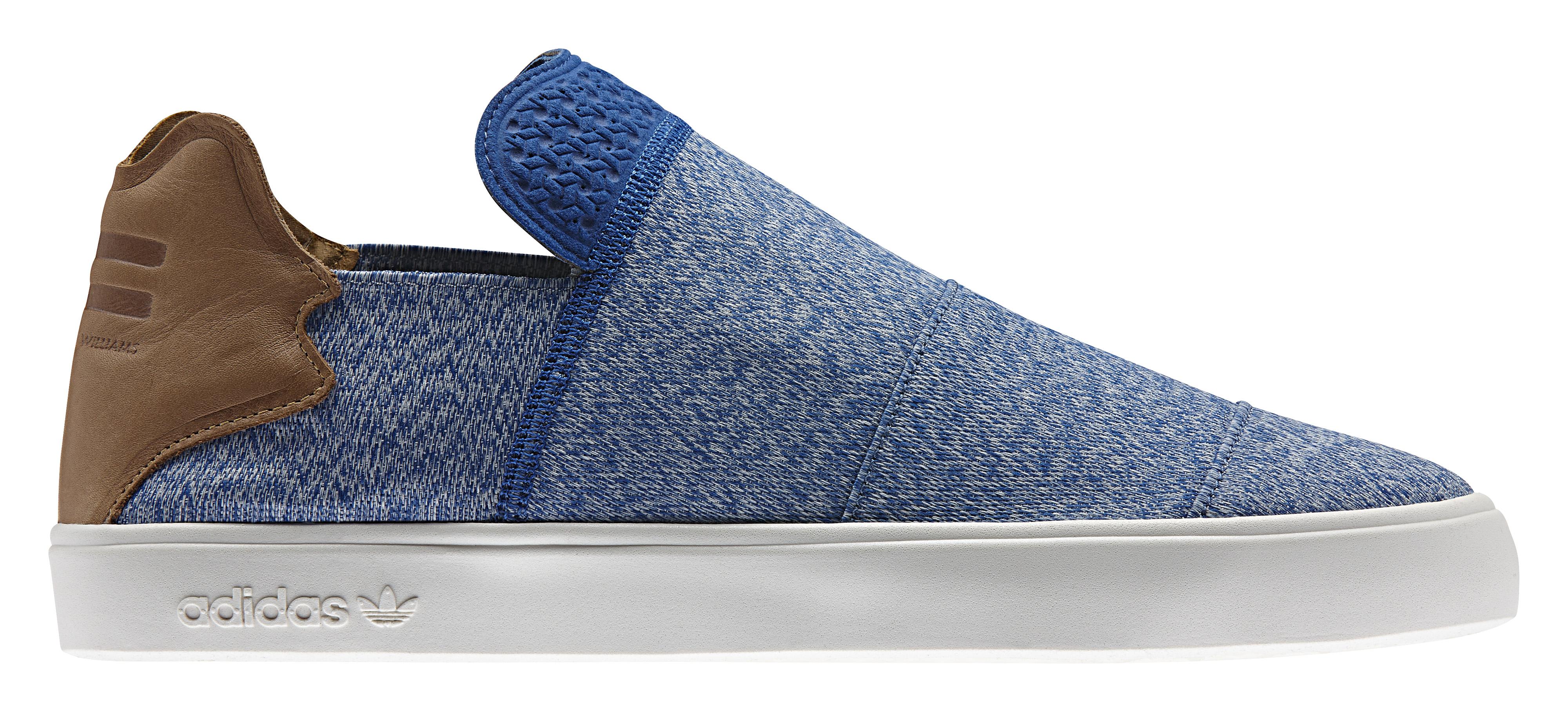 Pharrell x Adidas Pink Beach Slip On Blue