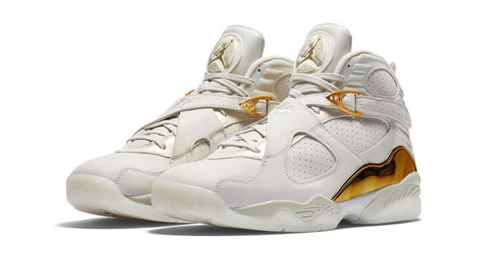 Nike Air Jordan 8 Retro White Gold