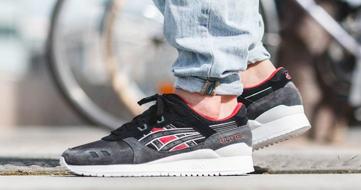 Asics Gel Lyte III Black Red