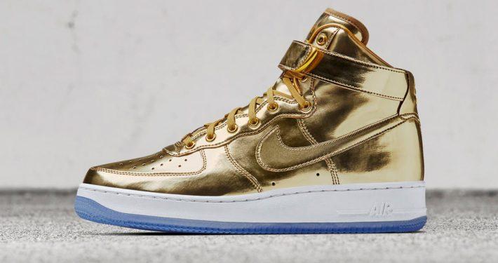 Nike Air Force 1 High Metal Gold