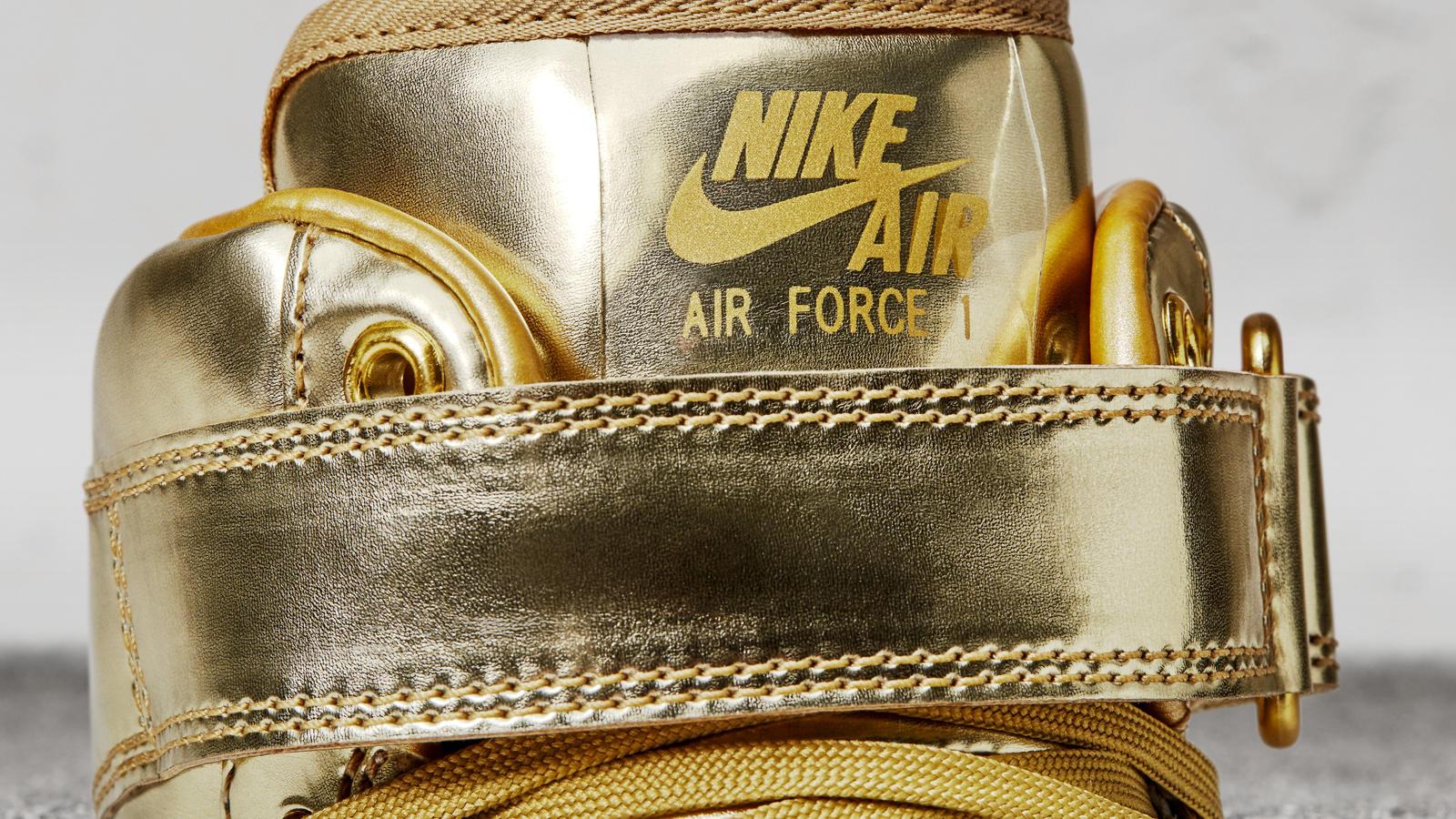 Nike Air Force 1 High Metal Gold Next Level Kickz
