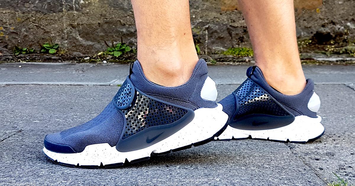 Nike Sock Dart Wolf Grey On Foot