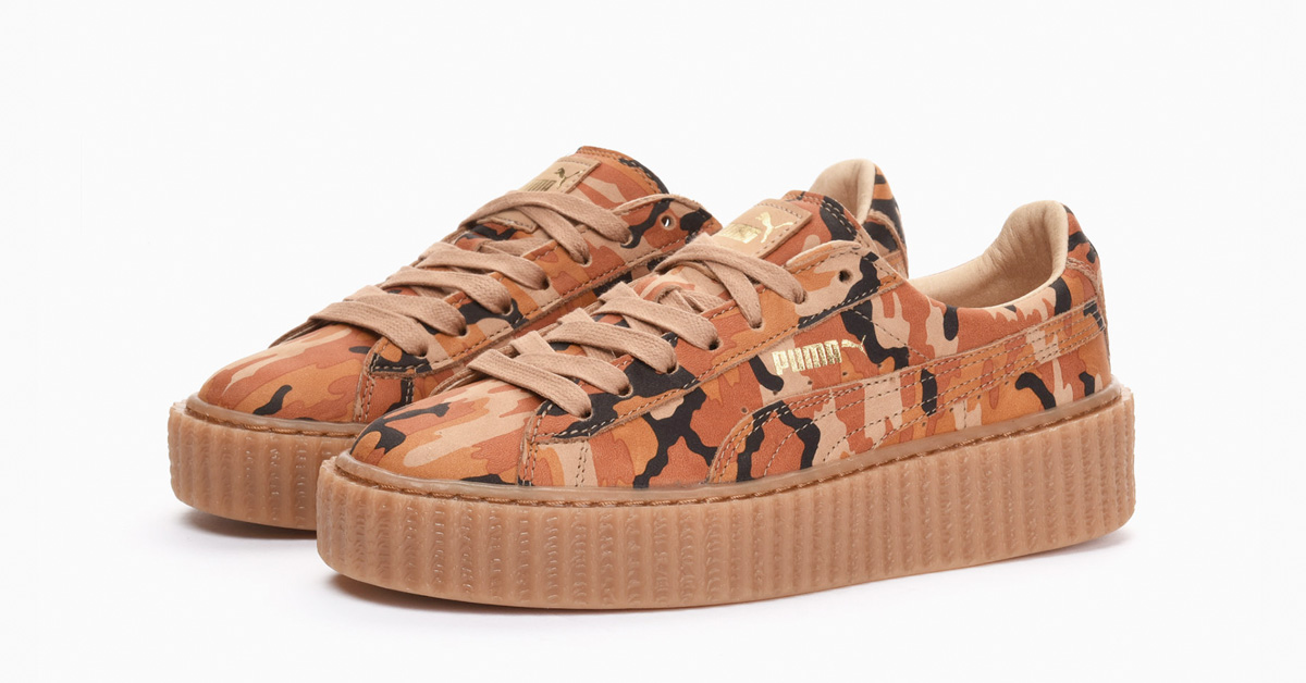 buy popular fa933 cd539 Rihanna x Puma Creeper Orange Camo - Next Level Kickz
