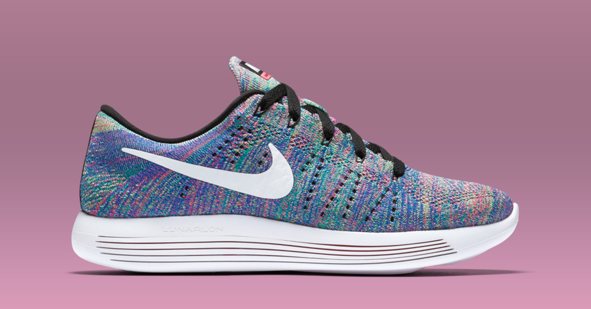 the latest a605b 69eea ... White Dark Purple Womens Nike LunarEpic Low Flyknit Multi .
