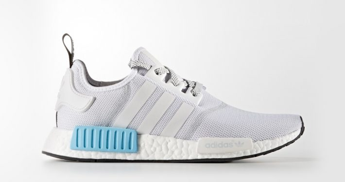 Adidas NMD R1 White Cyan