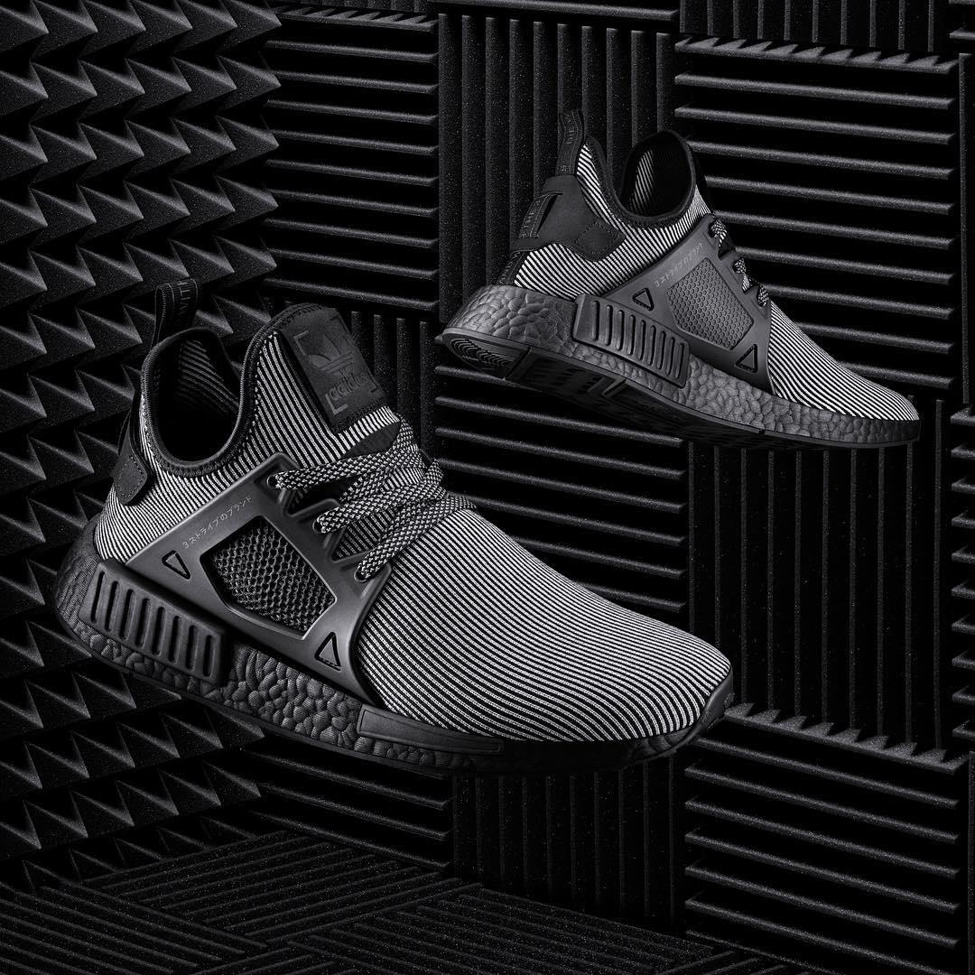 Adidas NMD XR1 Black Pinstripe