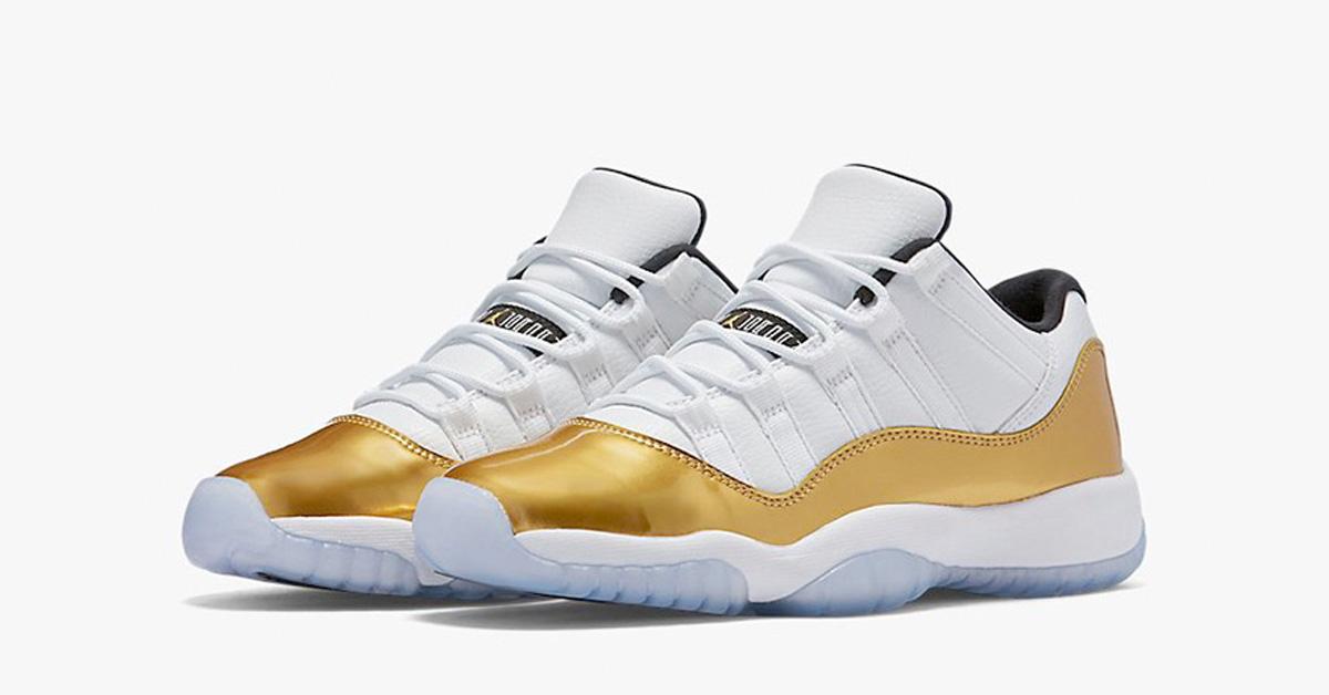 04a0090e274a87 Nike Air Jordan 11 Retro Low White Metallic Gold - Next Level Kickz