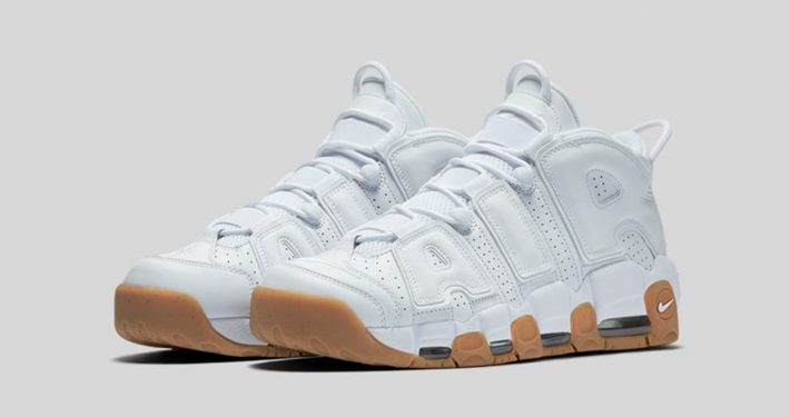 White Nike Air More Uptempo White