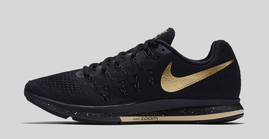 Nike Air Zoom Pegasus 33 Black and Gold