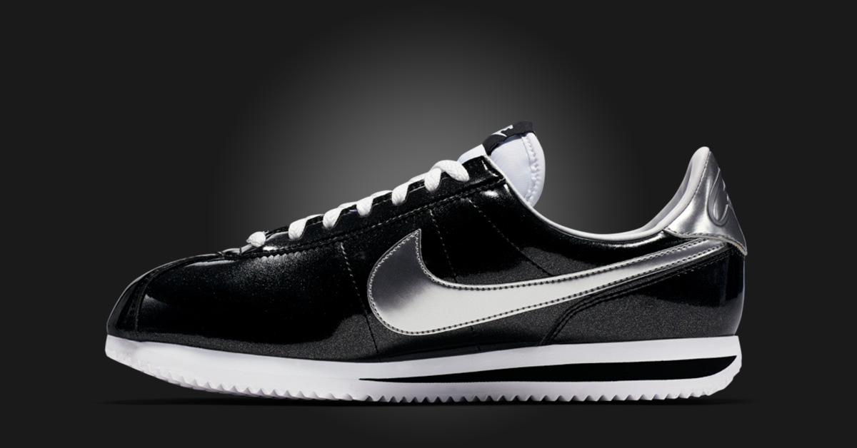 Nike Cortez Basic Premium Black - Next