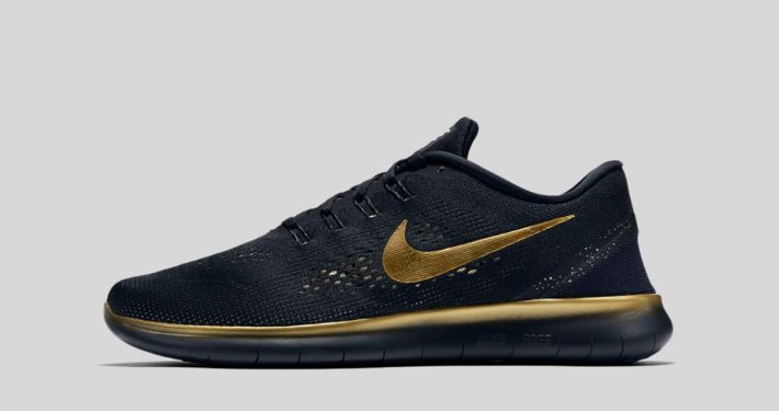 Nike Free RN Black and Gold
