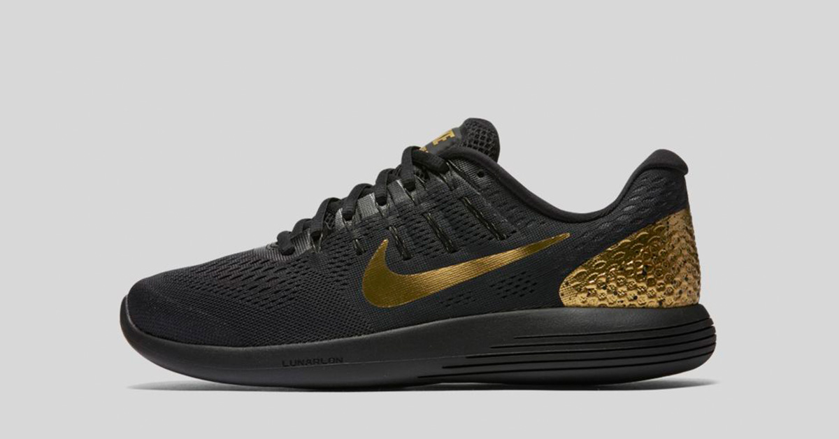 new product 15c21 9c4d2 ... greece nike launarglide 8 black and gold 43403 3dbec