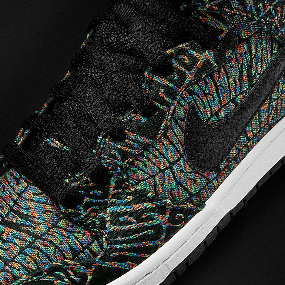 Nike SB Dunk High Premium Black Rainbow