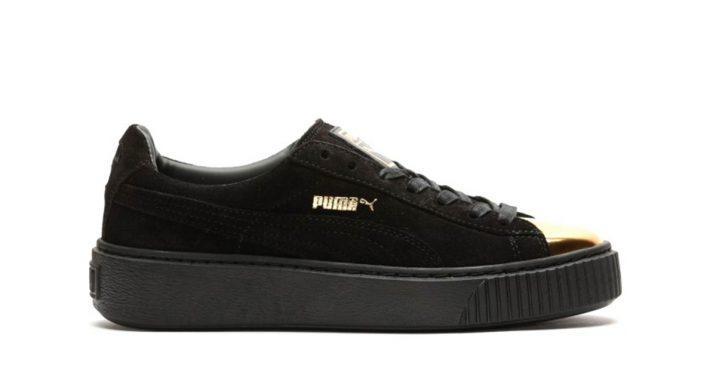 Puma Suede Platform Black Gold