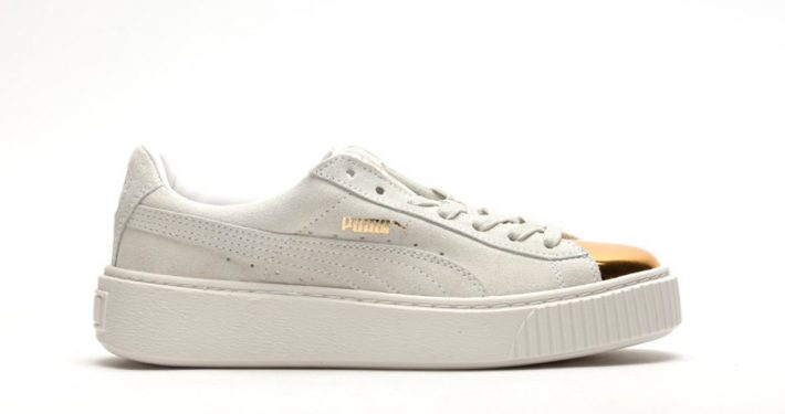 Puma Suede Platform White Gold