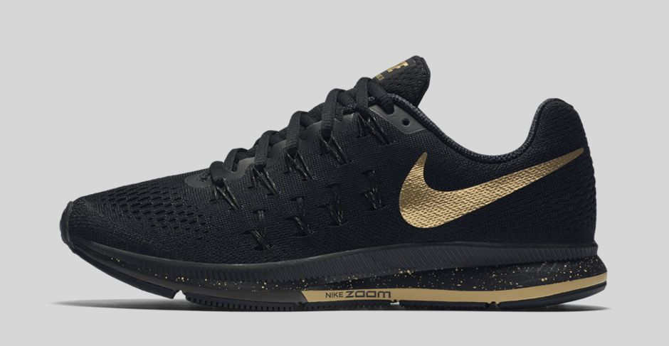 Nike Air Zoom Pegasus 33 Black and Gold - Next Level Kickz