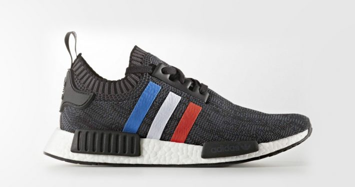 Adidas NMD R1 Primeknit Core Black Tri-color