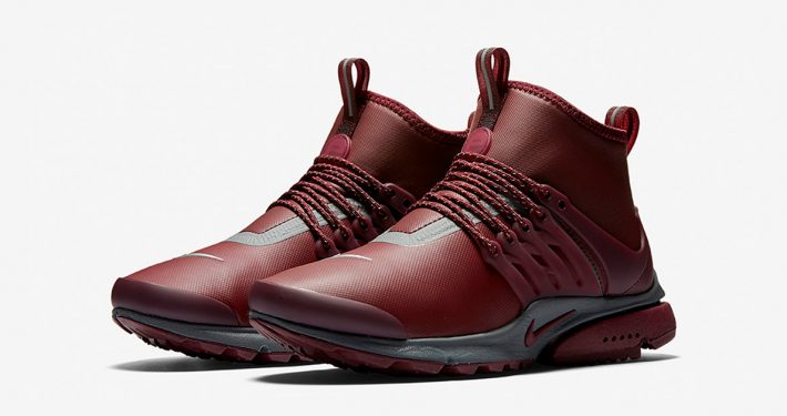 Womens Nike Air Presto Mid Utility Night Maroon
