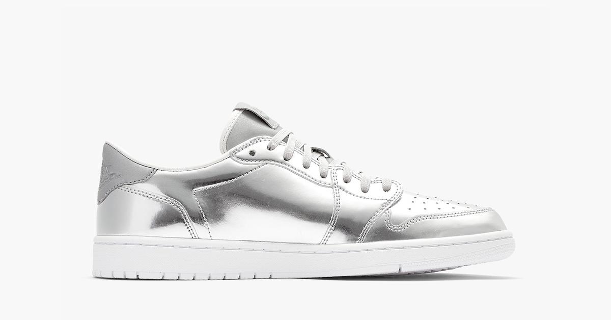 Nike Air Jordan 1 Low Pinnacle Metallic Silver