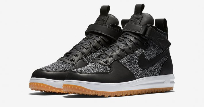 Nike Lunar Force 1 Flyknit Workboot Black