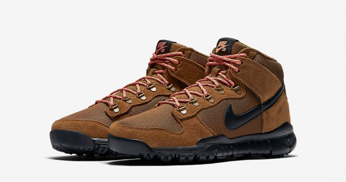 Nike SB Dunk High Sneakerboot Brown