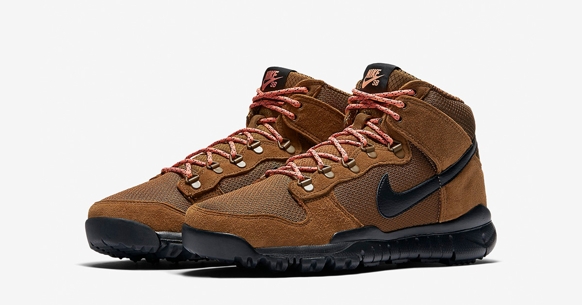 Nike SB Dunk High Sneakerboot Brown