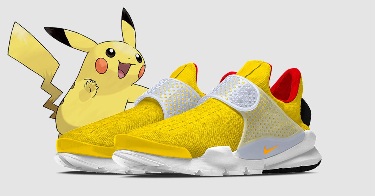 Pikachu x Nike Sock Dart