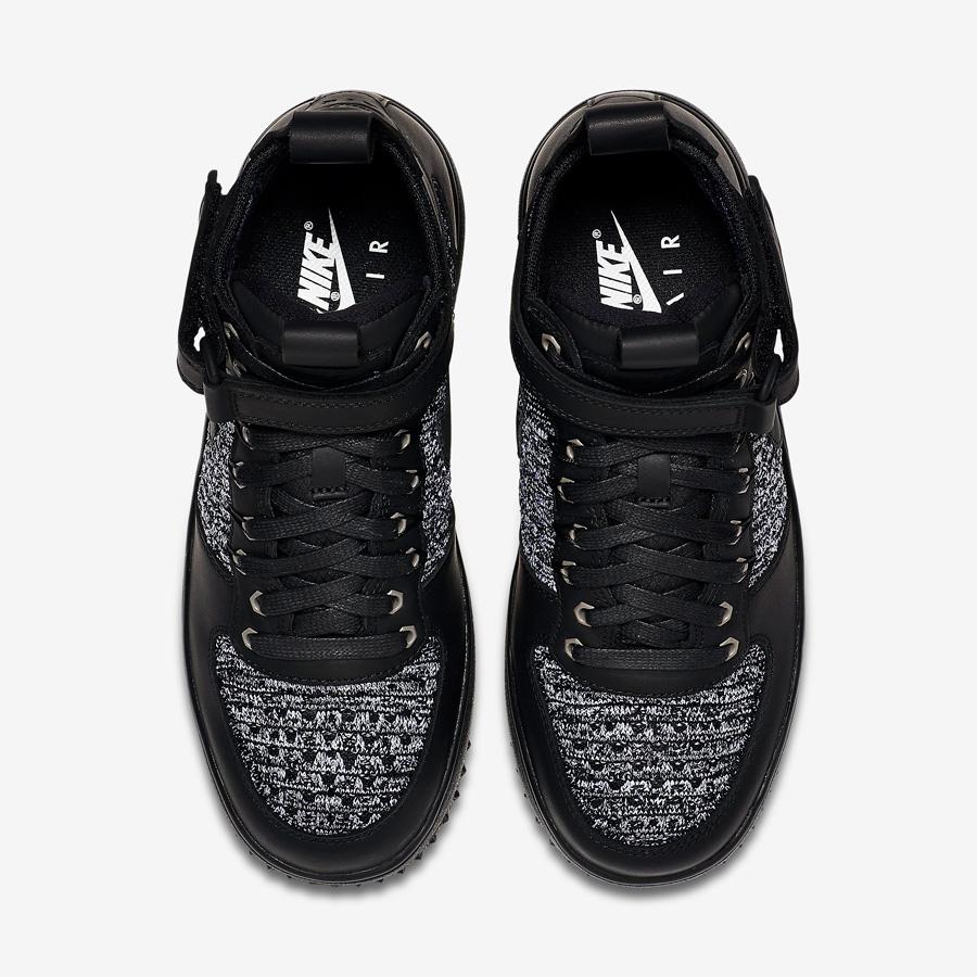 Womens Nike Lunar Force 1 Flyknit Workboot Black