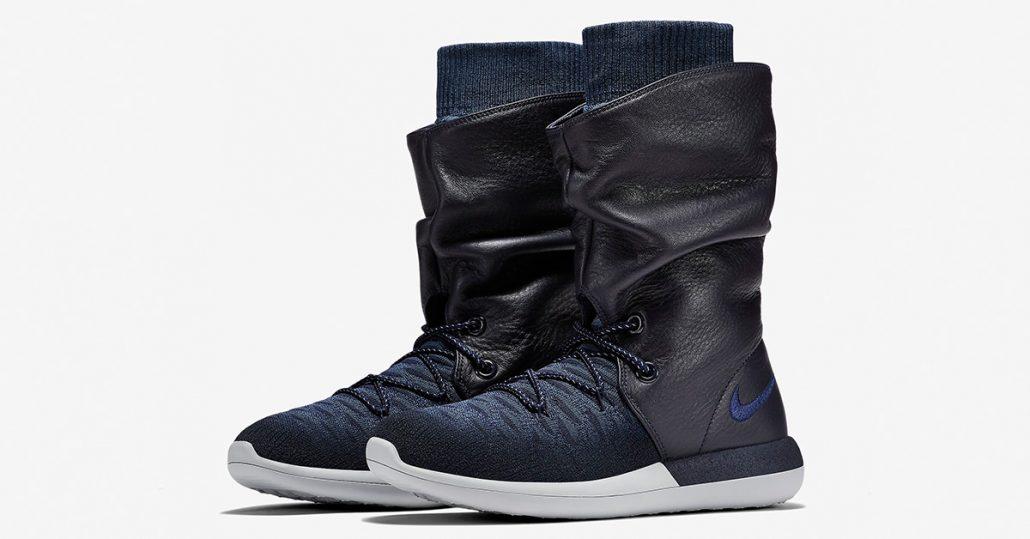 buy online 0233e 3e7c5 Womens Nike Roshe Two Hi Flyknit College Navy - Next Level Kickz
