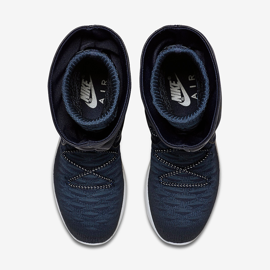 Womens Nike Roshe Two Hi Flyknit College Navy