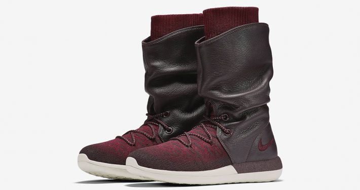 Womens Nike Roshe Two Hi Flyknit Deep Burgundy