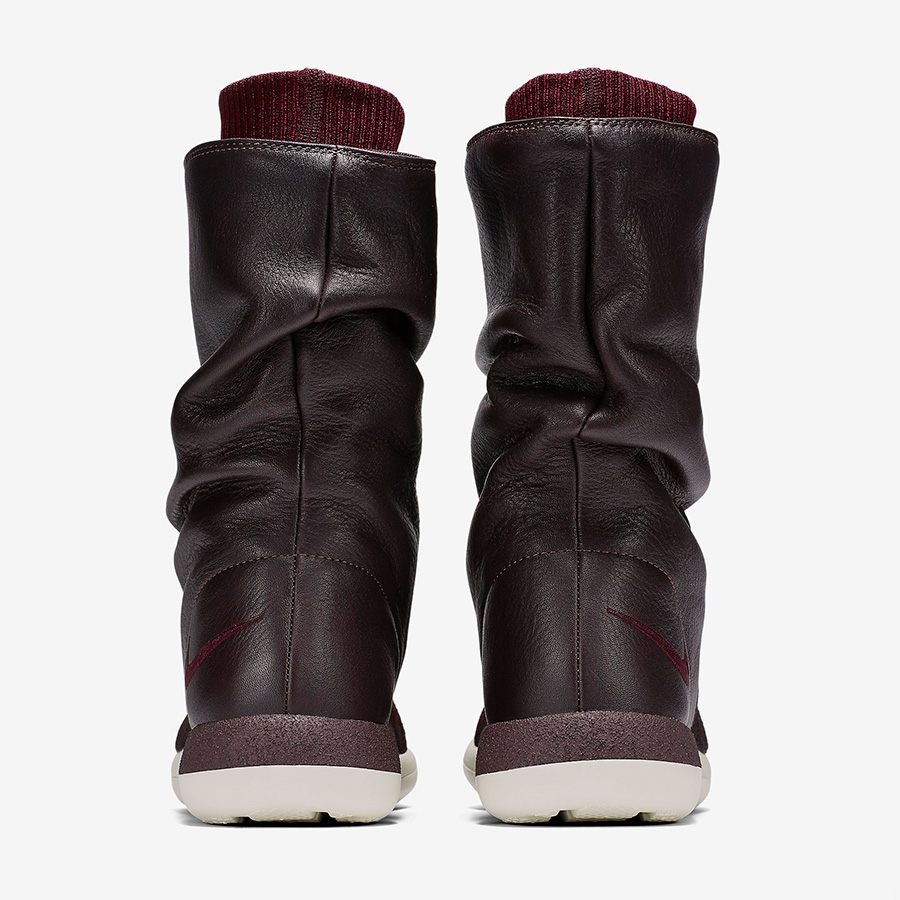 low priced a13b4 dcf60 Womens Nike Roshe Two Hi Flyknit Deep Burgundy