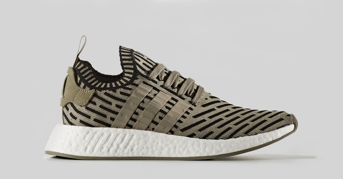 Adidas NMD R2 Primeknit Shadow Noise Olive