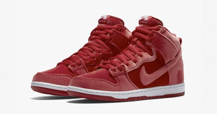 Nike SB Dunk High Premium Red Velvet