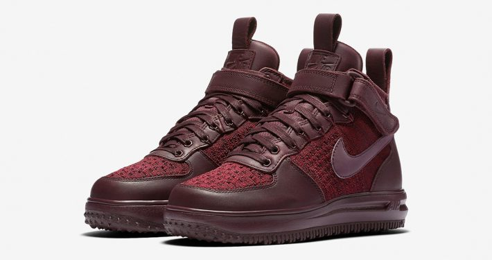Womens Nike Lunar Force 1 Flyknit Workboot Deep Burgundy