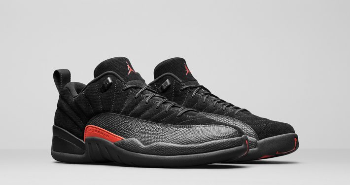 Nike Air Jordan 12 Low Black Max Orange