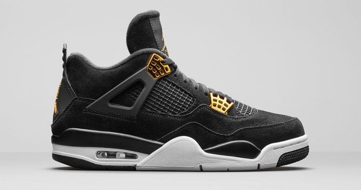 Nike Air Jordan 4 Retro Premium Black Metallic Gold