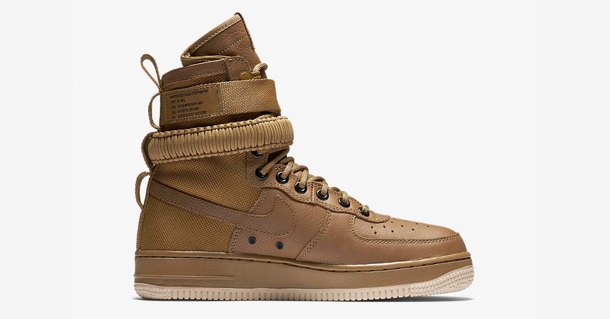 Womens Nike Special Field Air Force 1 Golden Beige