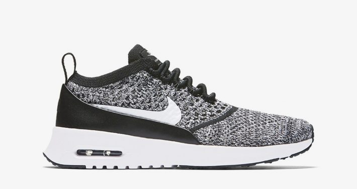 Nike Air Max Thea Flyknit Black White