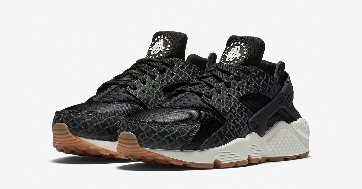 Womens Nike Air Huarache Premium Weave Black
