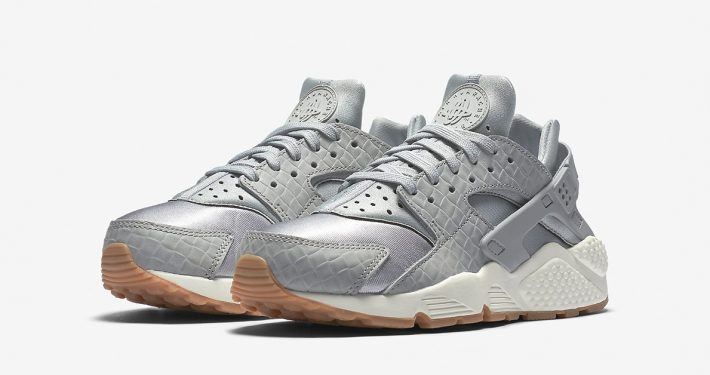 Womens Nike Air Huarache Premium Weave Wolf Grey