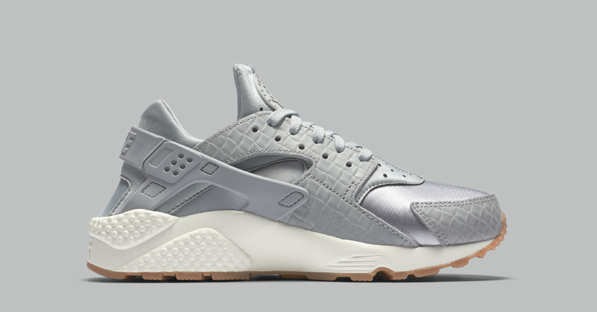 Womens Nike Air Huarache Premium Weave Wolf Grey