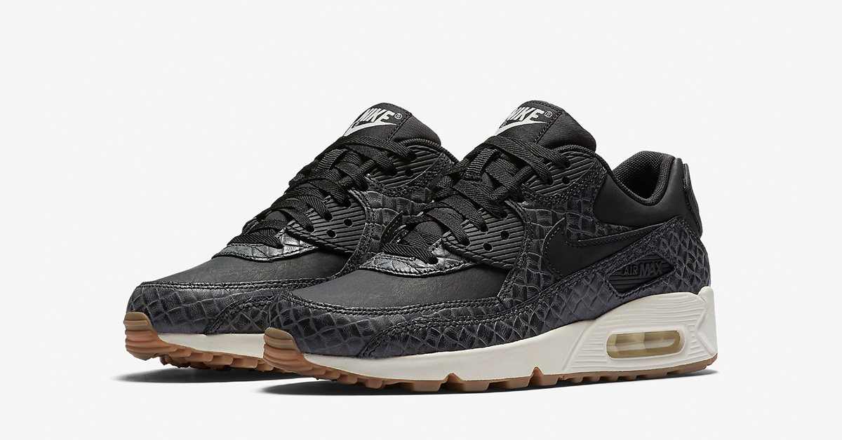 Womens Nike Air Max 90 Premium Weave Black