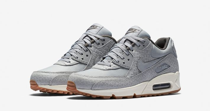 Womens Nike Air Max 90 Premium Weave Wolf Grey