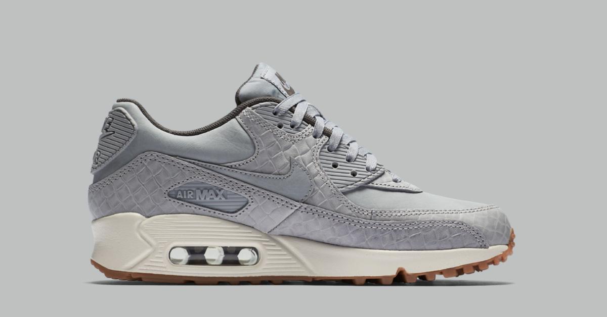 Womens Nike Air Max 90 Premium Weave Wolf Grey