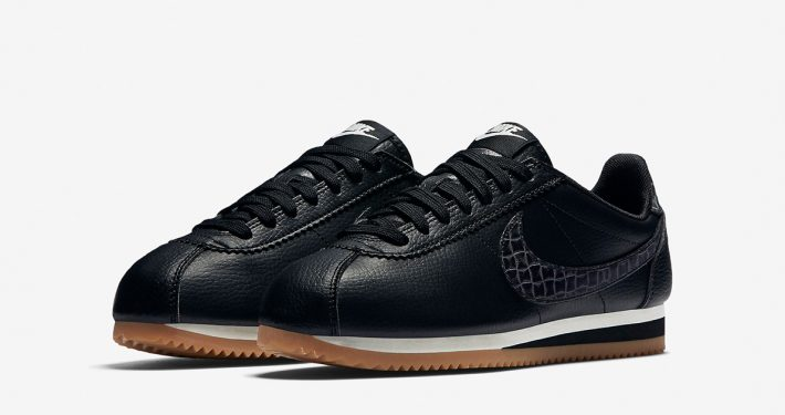 Womens Nike Classic Cortez Leather Lux Weave Black