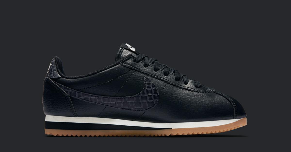Womens Nike Classic Cortez Premium Weave Black