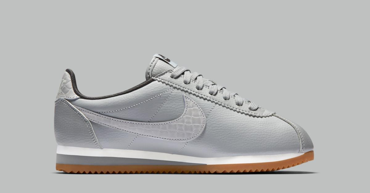 Womens Nike Classic Cortez Premium Weave Matte Silver