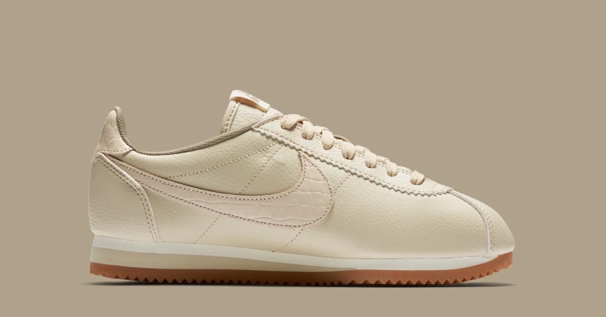Womens Nike Classic Cortez Premium Weave Oatmeal